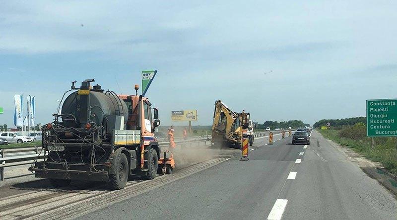 Lucrări pe Autostrada A1 București- Pitești